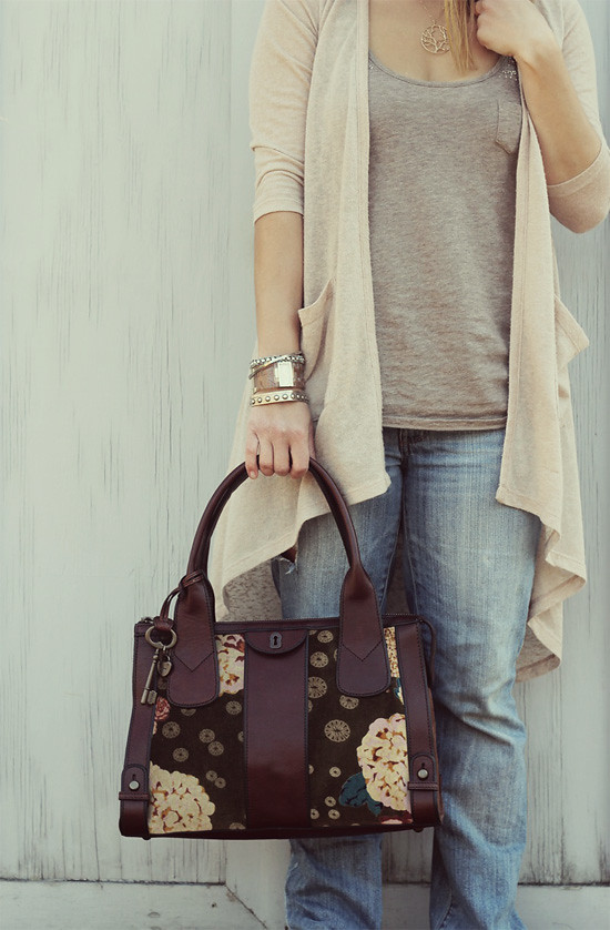 Sweater:  UO; Tank & Jeans:  AE; Bag: Fossil;