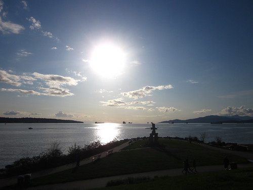 English Bay; Setting Sun