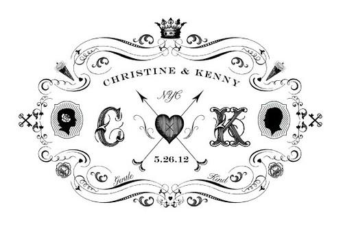 Marriage certificate -  mongram design