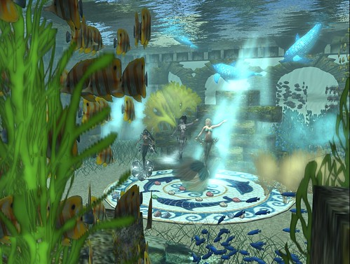 Mermaids Dancing at SL9B, photographed by Serafin Galli