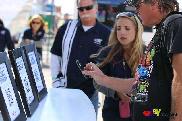 eBay Motors Mobile App booth exhibit at Sonoma Raceway