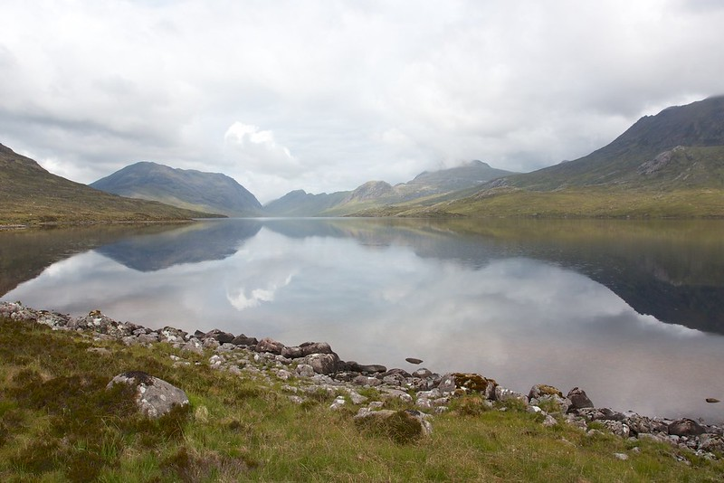 The still waters of Lochan Fada
