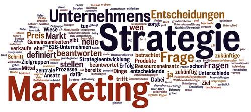 Marketing und Strategie als Wortwolke
