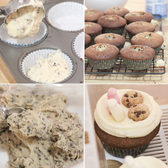 Milk & Choc Chip Cookie Cupcakes
