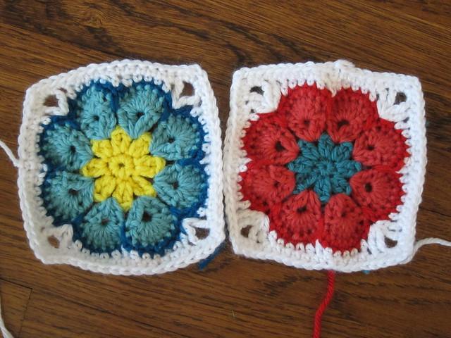 Free Crochet Pattern For Granny Square Sampler : Granny Square Sampler Afghan - Week 7 Flickr - Photo ...
