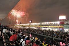 2011年大会の花火の様子『写真:鈴鹿サーキット』