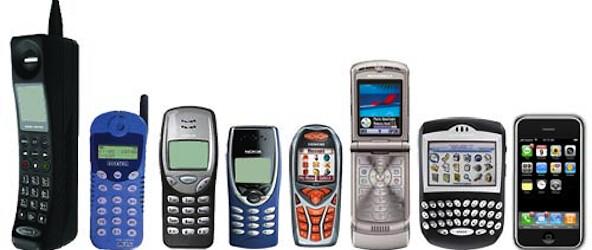evolucion telefonos