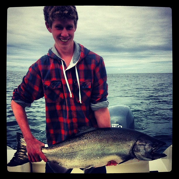 Good salmon fishing today in tofino with guests from for Is fishing good today