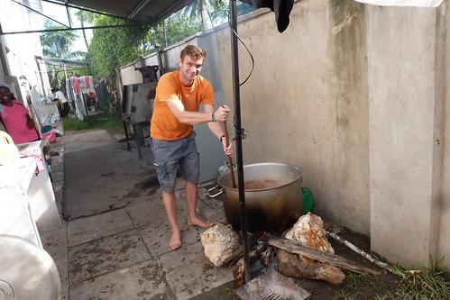 Andrew prepared the pilau