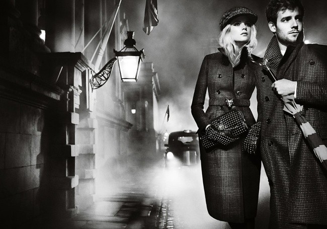 1 Burberry Autumn Winter 2012 Ad Campaign featuring Gabriella Wilde and Roo Panes