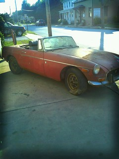 71 mgb barn find