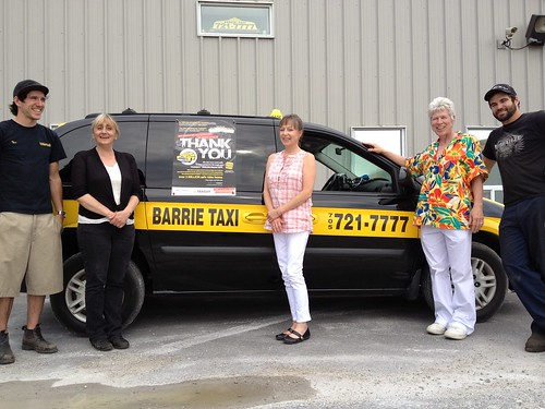 2012 Thank You Contest Barrie Taxi May Winner