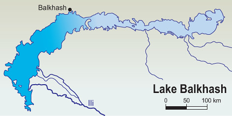 lake balkhash map - photo #3