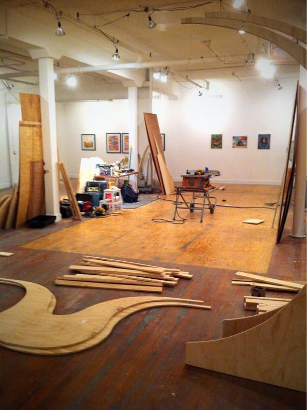 ramp wooden floor