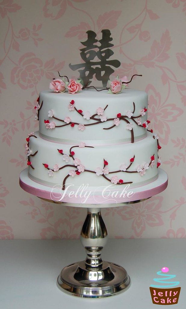 Cherry Blossom Wedding Cake Based On A Cake The Bride Had Flickr