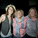Brandi Carlile with Rita Houston and Cara Tobin in Studio A. 7.2.2012. photo by Erica Talbott
