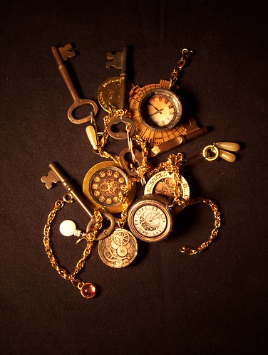 clockwork canary charms (7) by broken toys