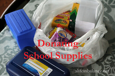 Donating School Supplies