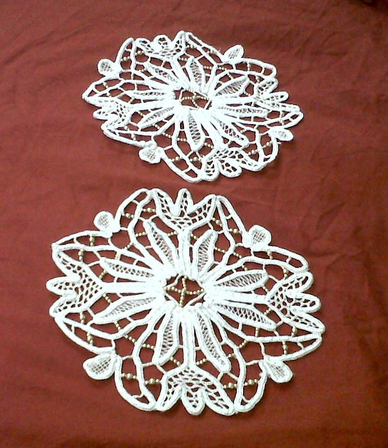 two small doilies