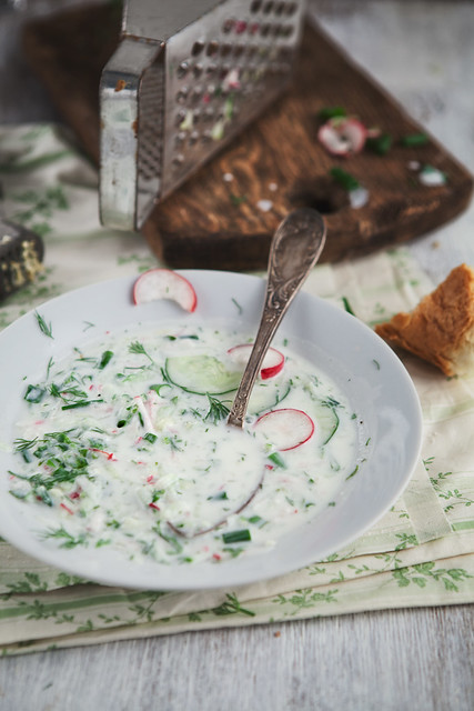 Cold Soup With Cucumber And Radish