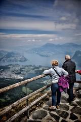 Tourists at Mount Pilatus