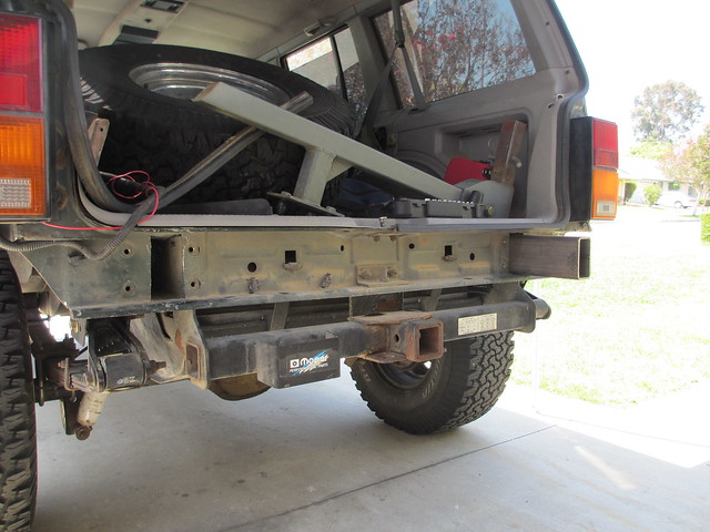 91 Xj Rear Bumper Build Doing It Strong Jeepforum Com