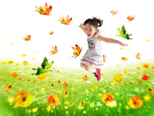 [フリー画像素材] 人物, 子供 - 女の子, 跳ぶ・ジャンプ ID:201211170600
