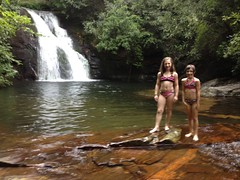 High Shoals Falls - The Girls at the Upper Cascade