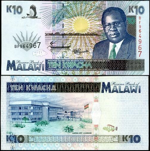 10 Kwacha MALAWI 1995, Pick 31