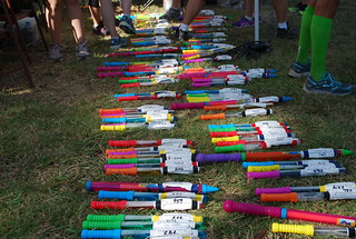 2012 DRC Cross Country Relay batons