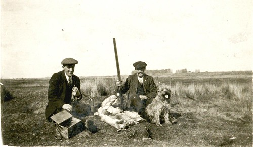 Willy & Arthur James Pearce rabbit hunting EDITED