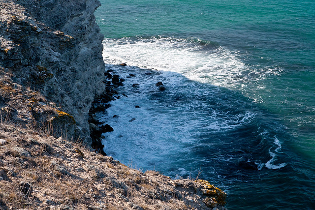 Water under a rock