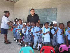 Haiti—With a goal of changing a culture of violence in schools into a culture of peace, AFSC works with the St. Charles Borromee School to train teachers in mediation and conflict transformation skills.