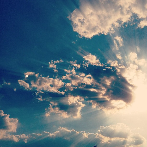 Beautiful heavens today! #photoadayaug #sky #clouds #sunrays