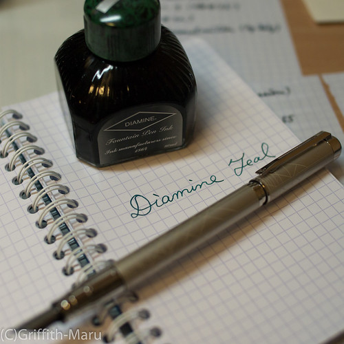 Pen & Ink - Diamine Teal + Waterman Perspective