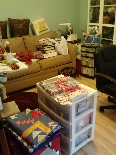 sewing room being rearranged