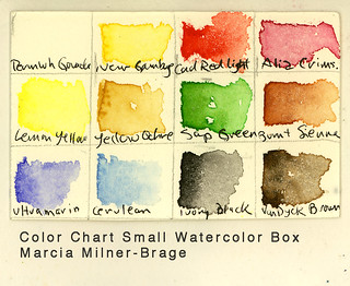 Color Chart Small Watercolor Box