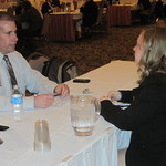 Recruiter Jim Thomas of CliftonLarsonAllen interviewing a candidate --