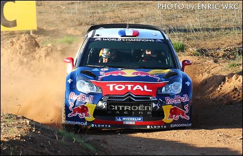 Loeb en el shakedown del rally