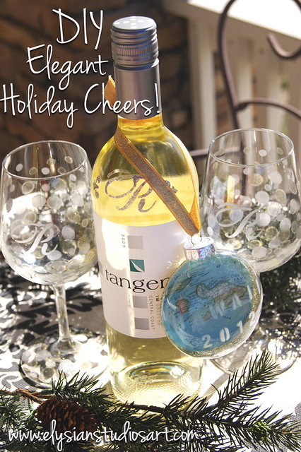 DIY Elegant Holiday Cheers! gift set