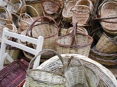 wood, wicker, basket,