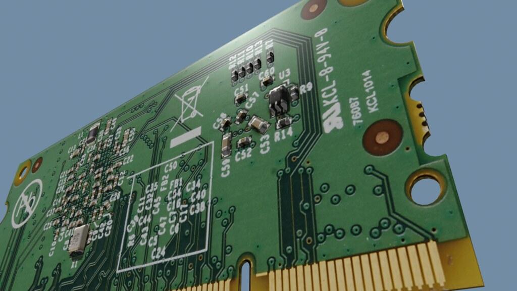 Raspberry Pi Compute Module or RASPICOM 3D model - Raspberry