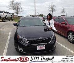 Congratulations to Shannon Bolling on your #Kia #Optima purchase from Jennifer Denson at Southwest KIA Rockwall! #NewCar