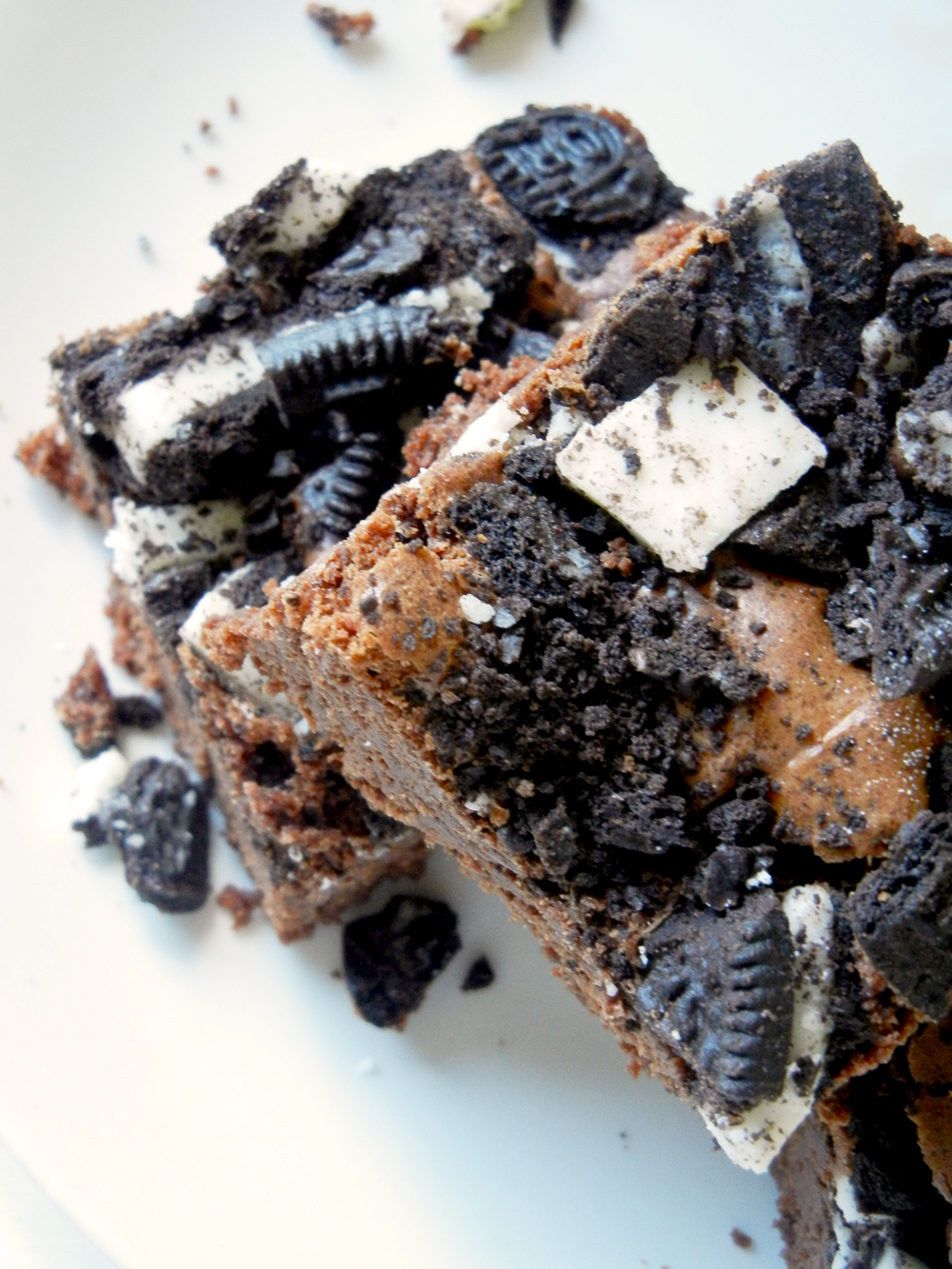 Fudgey Oreo Brownies