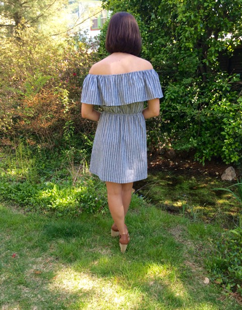 M6558 DIY Off-the-Shoulder Dress by Hey it's SJ