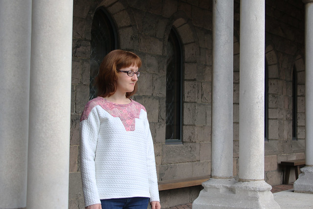 Paprika Pattern Zircon Sweater at Cloisters, New York