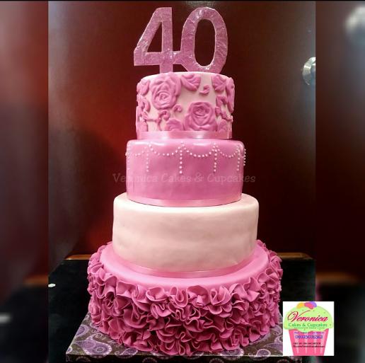 Ruffles & Roses Cake by Veronica Joy E. Mendoza of Veronica Cakes & Cupcakes
