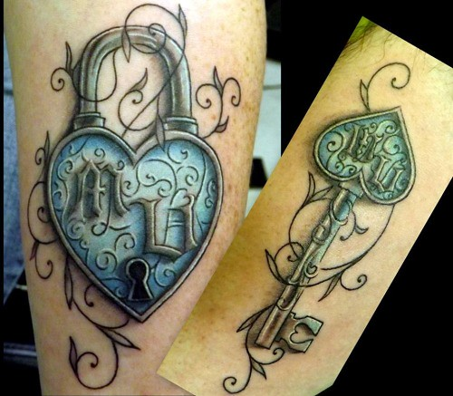 32 Beautiful Lock And Key Tattoo Ideas for You