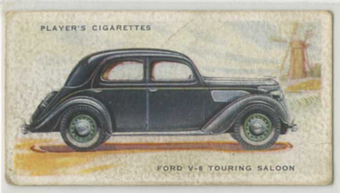 1937 Player Motor Cards Ford V-8