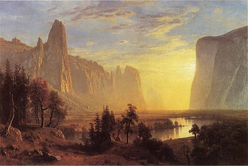 ALBERT BIERSTADT's Yosemite Valley,Yellowstone Park